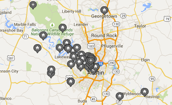 austin property map